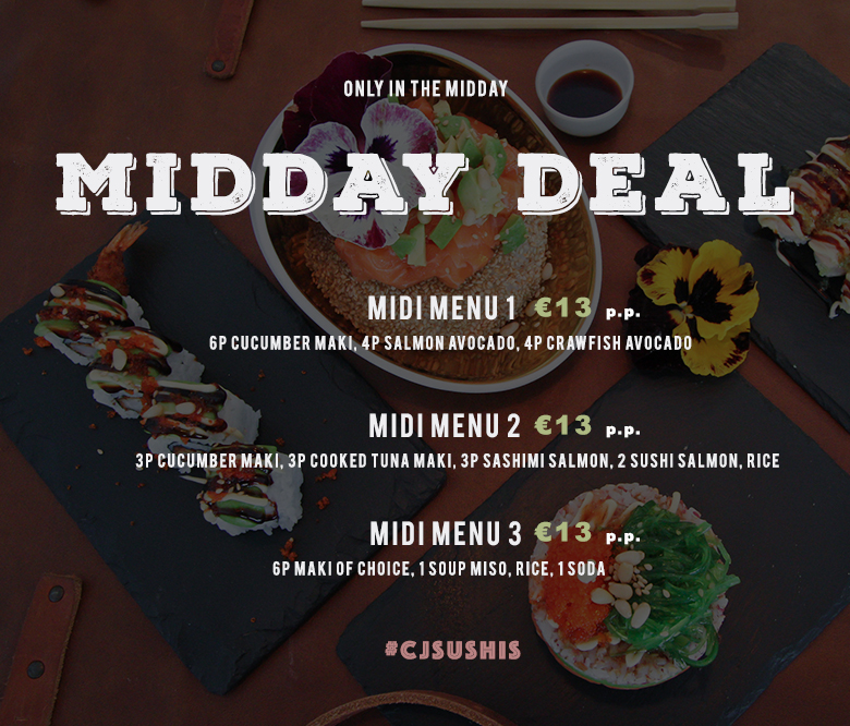 Midday Deal @CJSushis